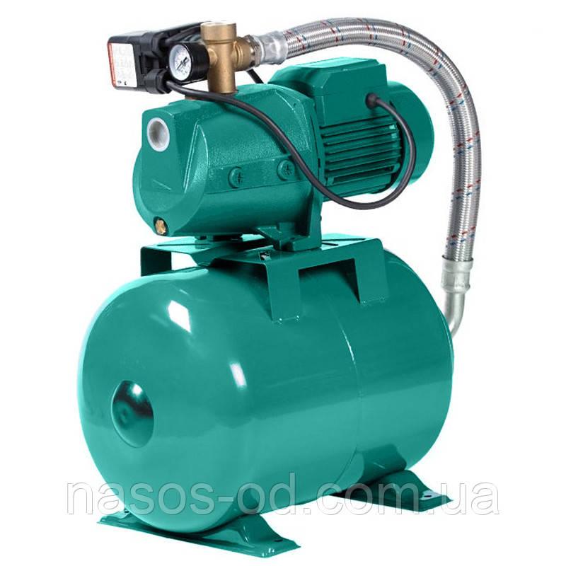 Насосная станция гидрофор Euroaqua JET100A для воды 1.1кВт Hmax50м Qmax60л/мин (самовсасывающий насос) 24л