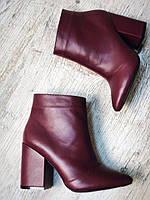 Женские кожаные Ботинки Original Two , внутри байка , марсала