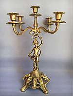 """Подсвечник бронзовый """"Амур (В)"""" каминный на 5 св., фото 1"""
