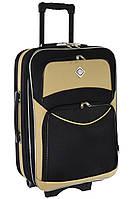 Дорожный чемодан на колесах Bonro Style Черно-кремовый Большой