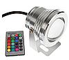 Подводный светодиодный светильник Ecolend 10W RGB с пультом управления