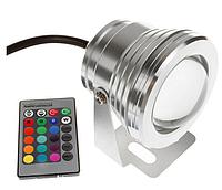 Подводный светильник светодиодный 10W RGB с пультом управления IP68 Ecolend