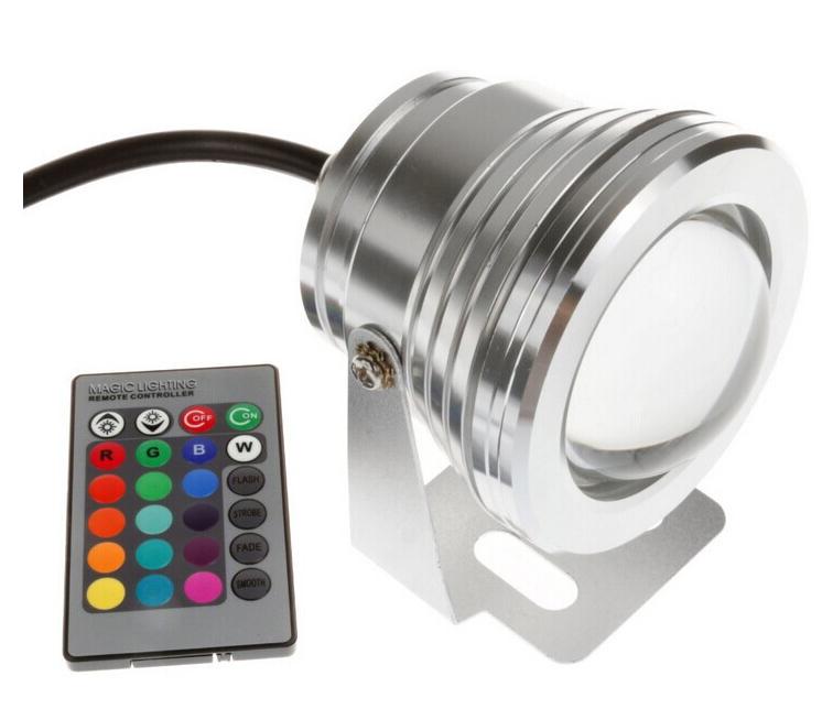 Подводный светодиодный светильник Ecolend 10W RGB с пультом управления  - TM Ecolend в Киеве