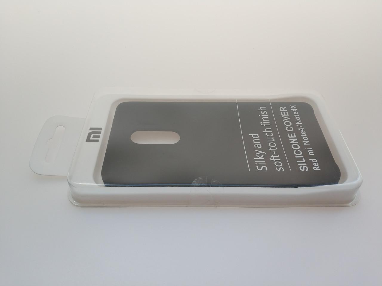Чехол Silicone Cover для Xiaomi Redmi Note 4X Note 4 Черный цвет