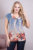 Красивая женская блузка Тереза (52-60)