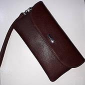 Коричневый кожаный кошелек KARYA