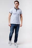Мужская светло-серая рубашка поло