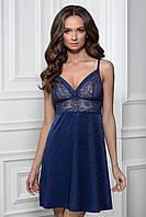 Кружевная ночная рубашка 8114/43 Carmela blue M, L, фото 1