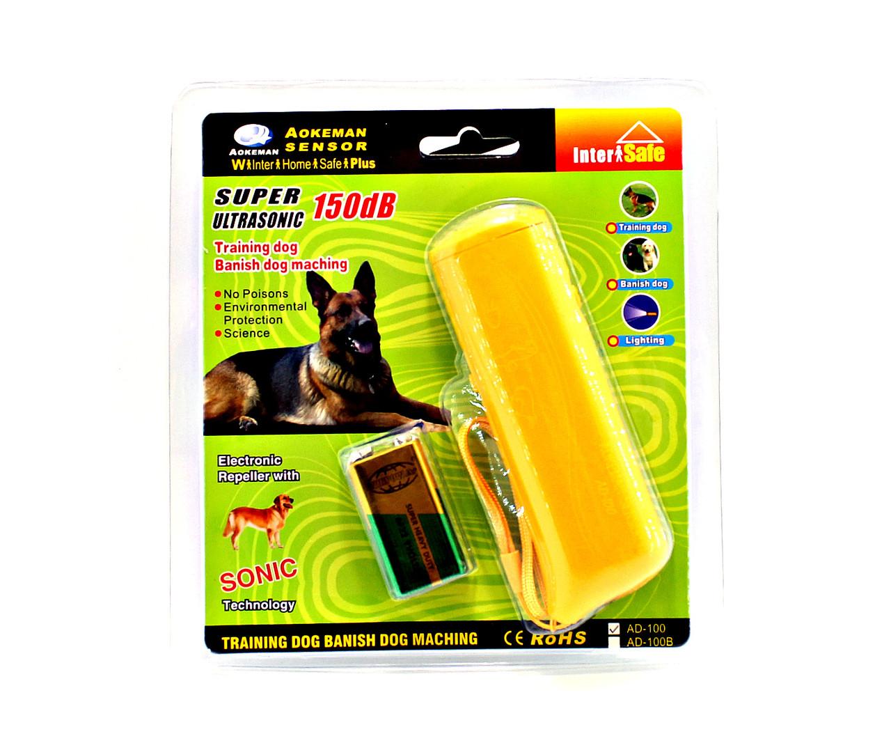 Отпугиватель собак ультразвуковой AD-100, 20 м, 130 дБ