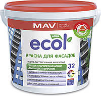 Краска MAV ECOL 32 фасадная 1 литр