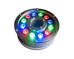 Светильник подводный 12W RGB IP68 для фонтана на форсунку Ecolend