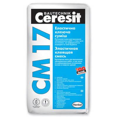 Клей для плитки Ceresit СМ 17 (Церезит) 25кг. Эластичная клеящая смесь.