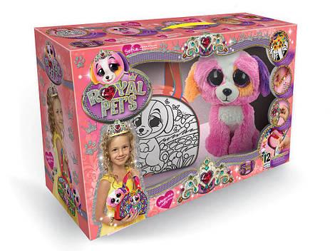 Детская сумочка раскраска с Питомцем Розовый щенок
