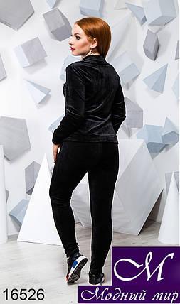 Женский велюровый спортивный костюм большого размера (р. 48-50, 52-54) арт. 16526, фото 2