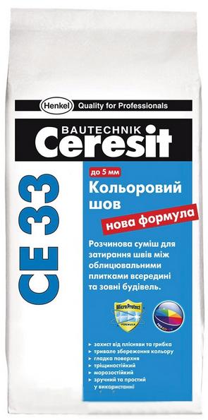 Затирка Ceresit (Церезит) CE-33 (цвет салатовый) 5кг