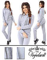 Женский серый спортивный костюм 42-46 размеры пр-во Украина 1020