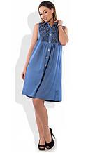 Сукня сорочка на літо розміри від XL ПБ-135