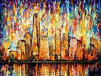 """Купить интерьерную картину """"Мегаполис в красках"""""""