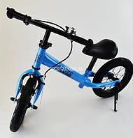Беговел (велобег) Sensei Ning Full Синий надувные колеса