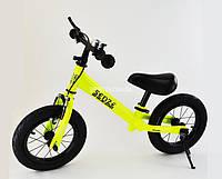 Беговел (велобег) Sensei Ning Full Салатовый надувные колеса