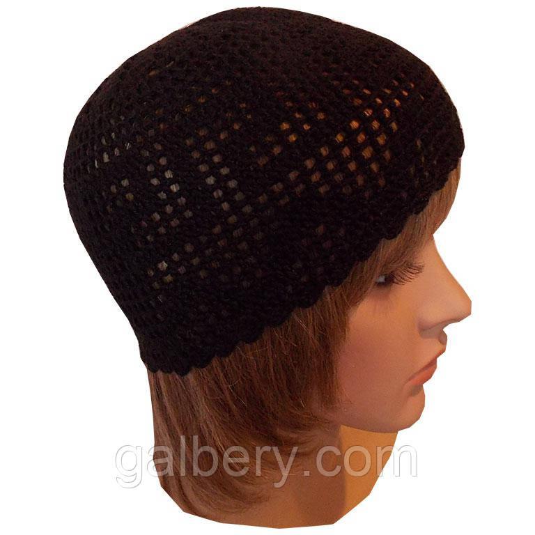 Женска вязаная шапочка от солнца, ручной работы