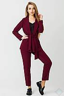 Стильный женский костюм бордового цвета Одри