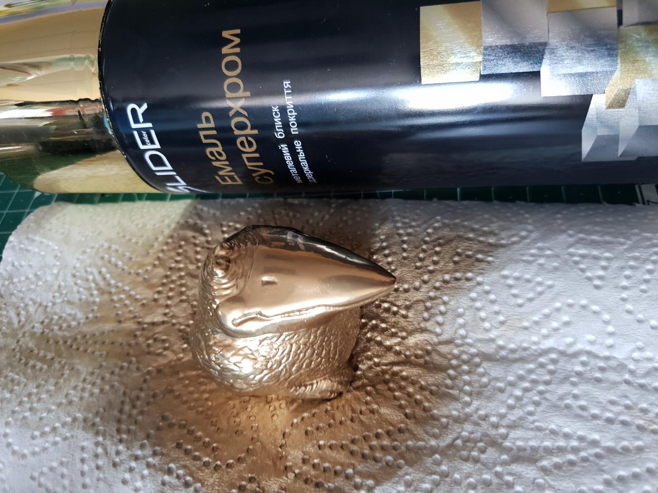 Краска аэрозоль золото хром универсальная эмаль Lider Лидер, 400 мл