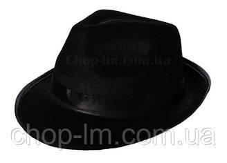 Шляпа Гангстера черная (карнавальная)