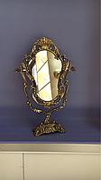 "Зеркало на ножке""Фигурное"" из бронзы, фото 1"