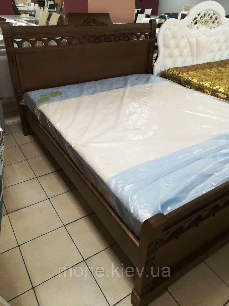 """Кровать двуспальная из массива ясеня  """"Анжелика"""""""