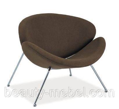 Дизайнерское кресло Signal Major, коричневое