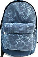 Джинсовые рюкзаки опт (синий)28*40