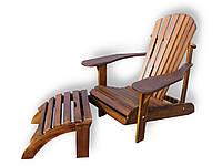 Кресло садовое Адирондак с подножкой , фото 1