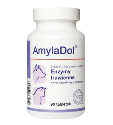 Витаминно-минеральный комплекс Dolfos Долфос АмилаДол для собак и кошек при нарушении пищеварения, 90 таб