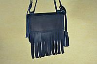 Кожаная сумка Fly | Синий Винтаж , фото 1