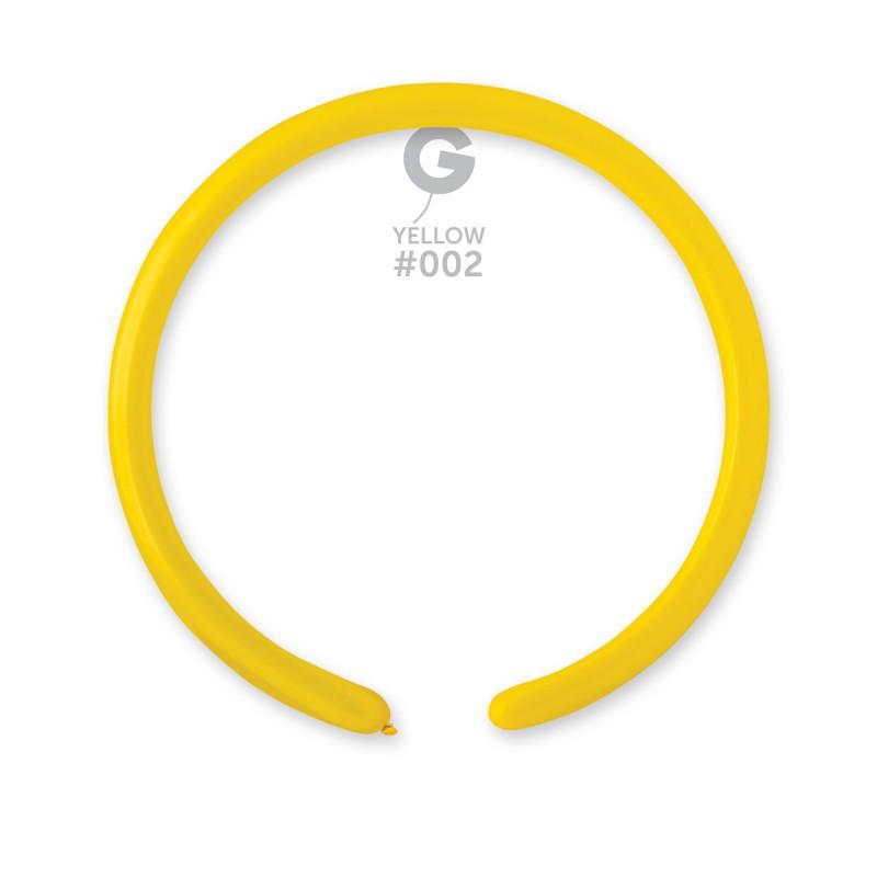 Шар конструктор ШДМ желтый тонкий ТМ Gemar