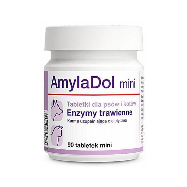 Витаминно-минеральный комплекс Dolfos АмилаДол Мини для собак и кошек при нарушении пищеварения, 90 таб