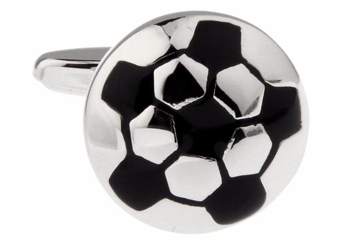 Запонки футбольный мяч для спортсменов, футболистов, тренеров - подчеркнут Вашу победу, фото 1