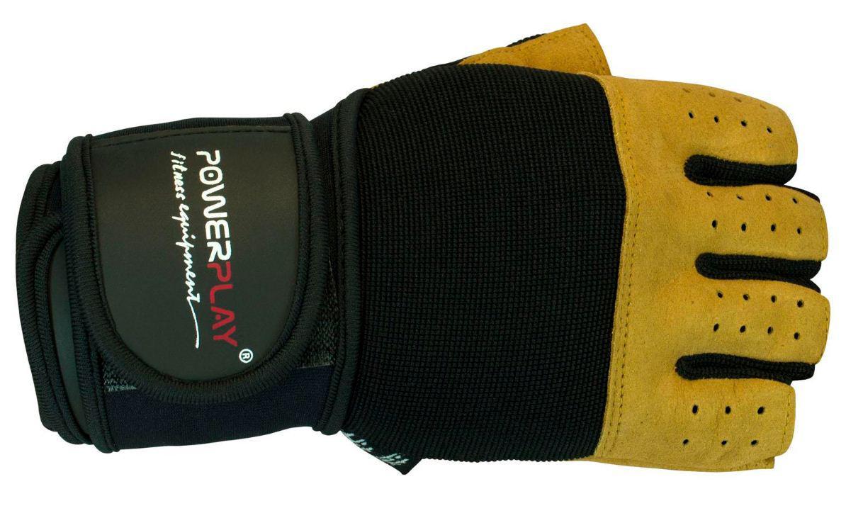 Перчатки без пальцев с напульсником PowerPlay