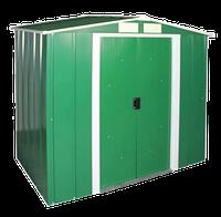 Сарай металлический ECO 262x180x191 см зеленый с белым