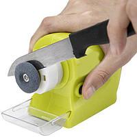 Точилка для ножей Motorized Knife Sharpener, Точилка для ножей и ножниц на батарейках, Ножеточка Свифти Шарп