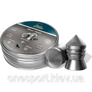 Пули пневм HN Diabolo Silver Point, 500 шт/уп, 0,75 гр 4,5 мм (код 186-52828)