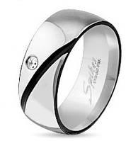 Женское кольцо из стали 316L c фианитом Spikes (США)