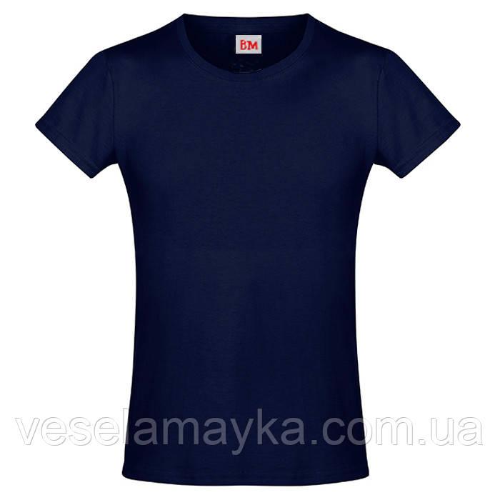 Глибоко темно-синя футболка для дівчаток (Преміум)