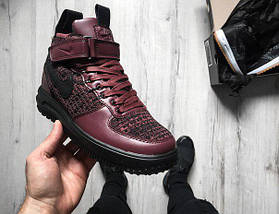 Мужские кроссовки Nike Lunar Force 1 Flyknit Workboot Purple, Black, фото 3