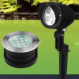 Грунтовые светильники и тротуарные светодиодные