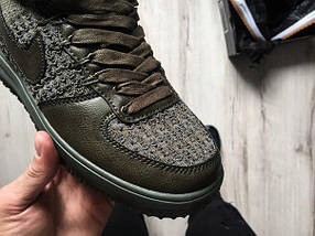 Мужские кроссовки Nike Lunar Force 1 Flyknit Workboot (Medium Olive) , фото 3
