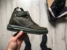 Мужские кроссовки Nike Lunar Force 1 Flyknit Workboot (Medium Olive) , фото 2
