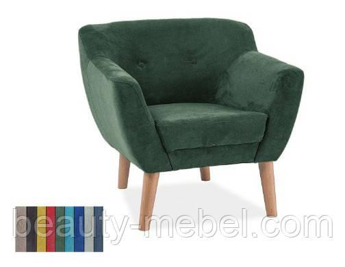 Дизайнерское мягкое кресло Signal Bergen 1, зеленое