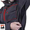 Костюм рабочий SteelUZ куртка и брюки, красная отделка, фото 7